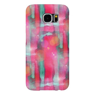 Sun glare abstract painted watercolor samsung galaxy s6 cases