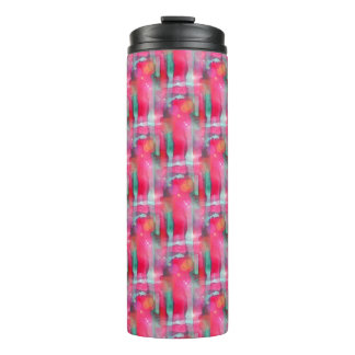 Sun glare abstract painted watercolor thermal tumbler