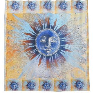 Sun God bath shower curtain