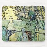 Sun Goddess by Alphonse Mucha Mousepads