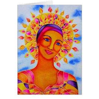 Sun Goddess by Rita Loyd Greeting Card