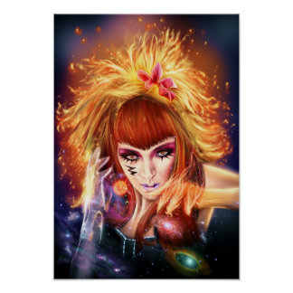 Sun Goddess Small Size Portfolio Poster