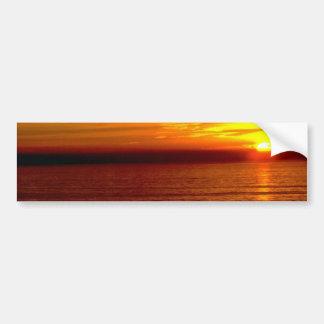 Sun Goes Down Horizon Bumper Stickers