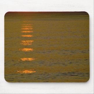 Sun Going Down Over Sea Mousepad
