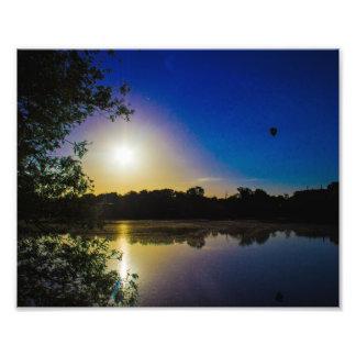 Sun Going Down Over UEA Lake, Norwich, England Photo Print