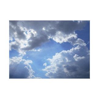 Sun Hiding Behind The Clouds Canvas Print