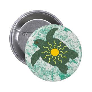 Sun honu ( sea turtle) button