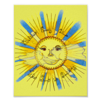 """Sun in Clouds - 8"""" x 10"""" print"""