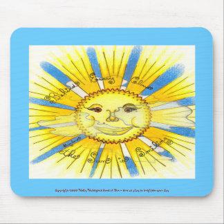 Sun in Clouds - Vertical Mousepad (sky blue)