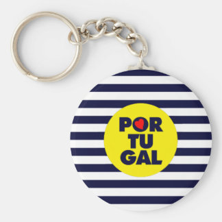Sun in Portugal Basic Round Button Key Ring