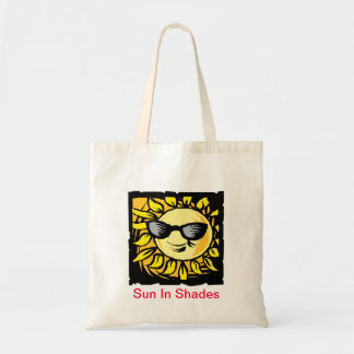 Sun In Shades Tote Bags