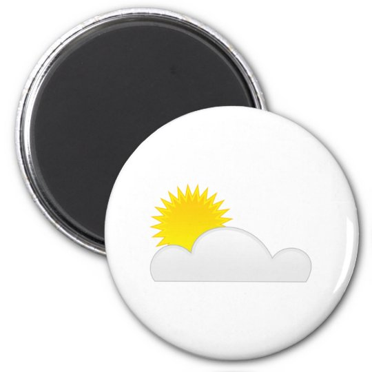 Sun in the Clouds 6 Cm Round Magnet