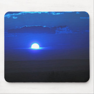 Sun in the clouds blue mouse pads
