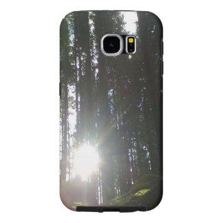 Sun in the forest samsung galaxy s6 cases