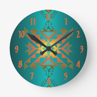 Sun In Winter Blanket Pattern Wallclock