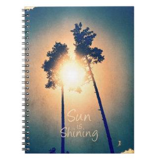 Sun is shining notebook