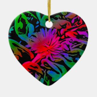 Sun Jewel Ceramic Heart Decoration