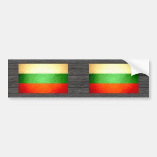Sun kissed Bulgaria Flag Bumper Sticker