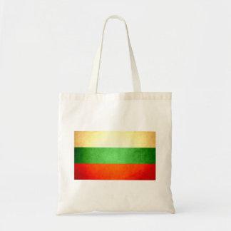Sun kissed Bulgaria Flag Canvas Bags