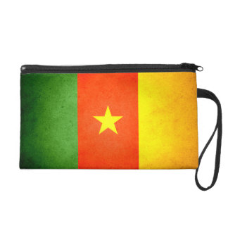 Sun kissed Cameroon Flag Wristlet Clutches