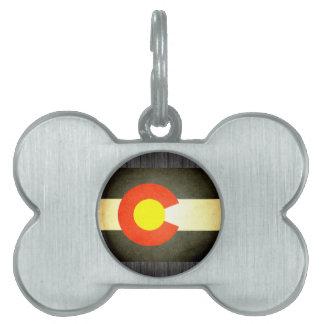 Sun kissed Colorado Flag Pet Name Tag