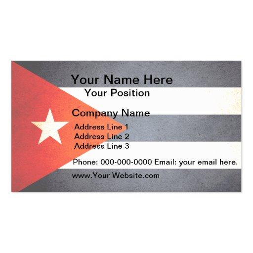 Sun kissed Cuba Flag Business Card Template