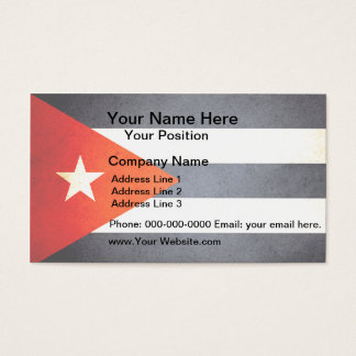 Sun kissed Cuba Flag Business Card