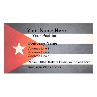 Sun kissed Cuba Flag Pack Of Standard Business Cards
