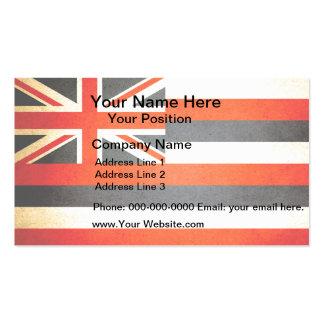 Sun kissed Hawaii Flag Business Card
