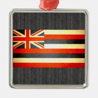 Sun kissed Hawaii Flag Christmas Ornaments