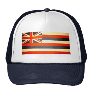 Sun kissed Hawaii Flag Trucker Hats