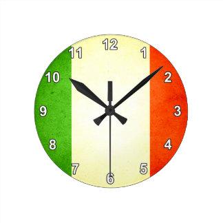 Sun kissed Italy Flag Round Clock