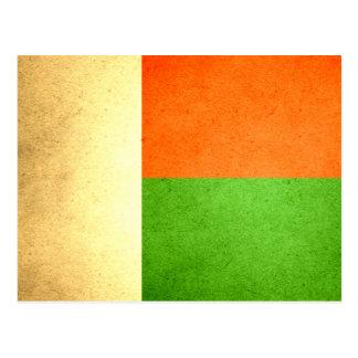 Sun kissed Madagascar Flag Postcard
