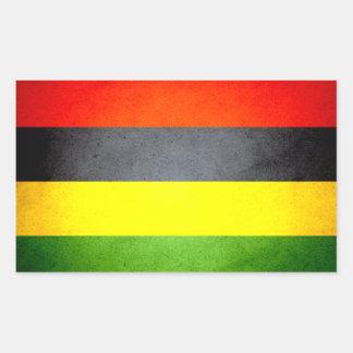Sun kissed Mauritius Flag Rectangular Sticker