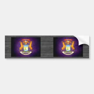 Sun kissed Michigan Flag Bumper Sticker