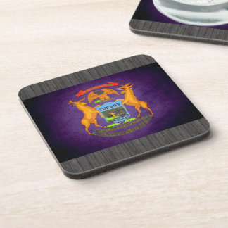 Sun kissed Michigan Flag Drink Coasters