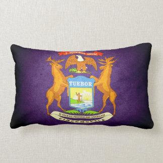Sun kissed Michigan Flag Throw Pillows