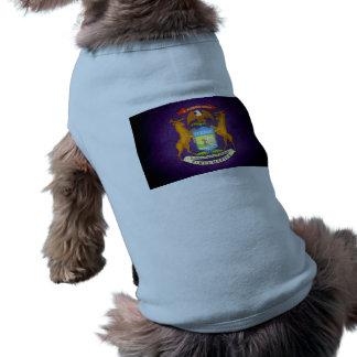 Sun kissed Michigan Flag Doggie Shirt