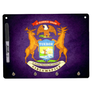 Sun kissed Michigan Flag Dry-Erase Whiteboard