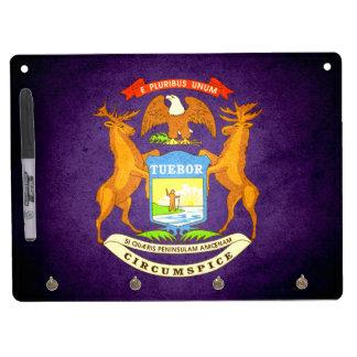 Sun kissed Michigan Flag Dry-Erase Whiteboard