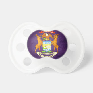 Sun kissed Michigan Flag Baby Pacifiers