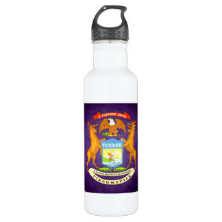 Sun kissed Michigan Flag 24oz Water Bottle