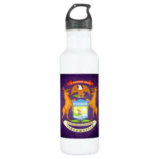 Sun kissed Michigan Flag 24oz Water Bottle