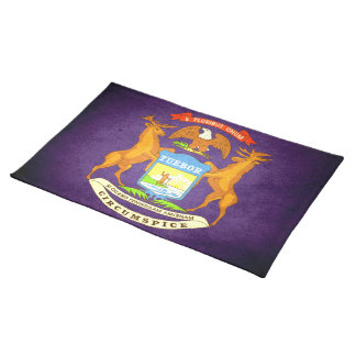 Sun kissed Michigan Flag Placemats