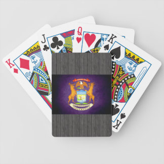 Sun kissed Michigan Flag Bicycle Poker Deck