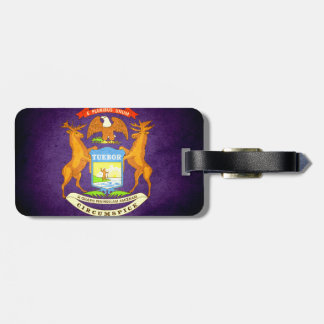 Sun kissed Michigan Flag Tag For Bags