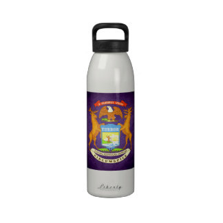 Sun kissed Michigan Flag Reusable Water Bottle