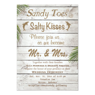 Sun Kissed Sandy Toes Salty Kisses Wedding Invite
