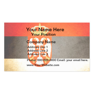 Sun kissed Serbia Flag Pack Of Standard Business Cards