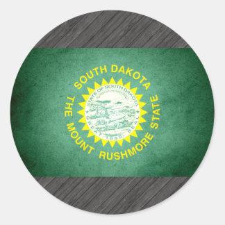 Sun kissed South Dakota Flag Sticker